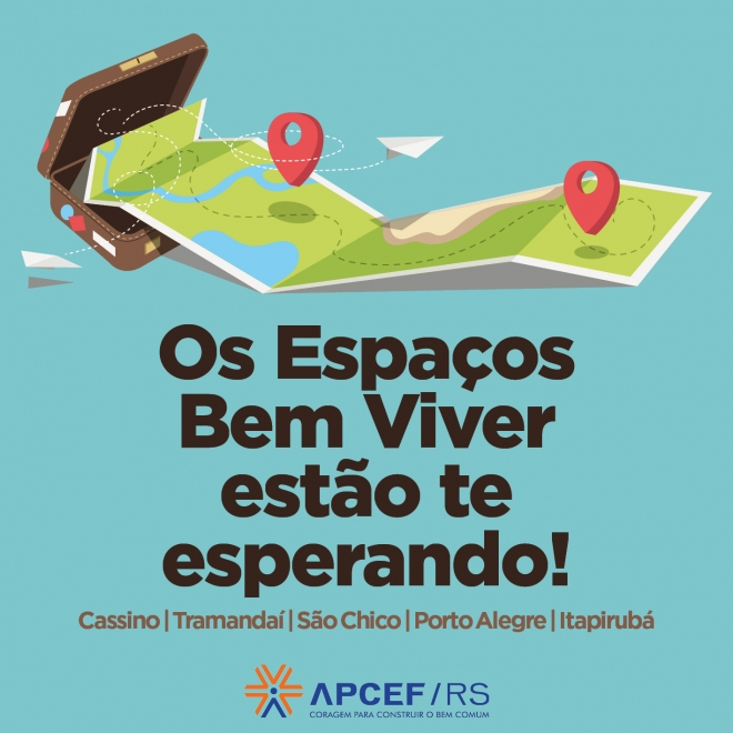 Vagas nos Espaços Bem Viver da APCEF/RS