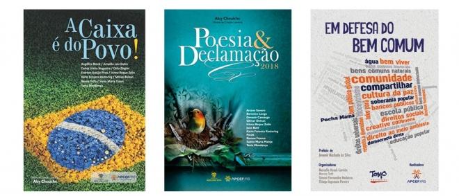 Livros lançados pela APCEF em 2018